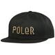 POLER Fur Font Snapback Cap black